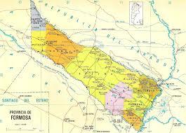 Carte administrative de la province de Formosa