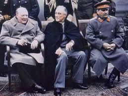 قادة دول الحلفاء (فرنسا امريكا بريطانيا الاتحاد السوفييتي)