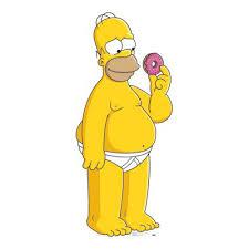 Homer dojat koblihou