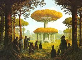 Les jardins de la Lothlorien