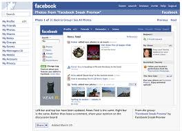 facbook, layout
