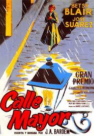 Cartel de la película, Calle Mayor, 1956