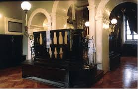 The Bimah from which prayers are led