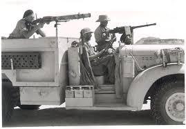 العتاد والاسلحة ووسائل  النقل المستعملة في تلك الفترة