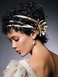 Short formal updo hair style with accessories