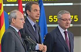 Montilla, Zapatero y Blanco